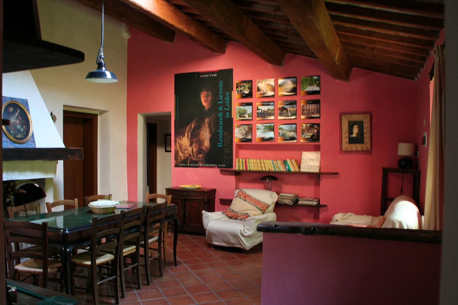 the living room in Casa delle Rose Villa with Pool Marche Italy