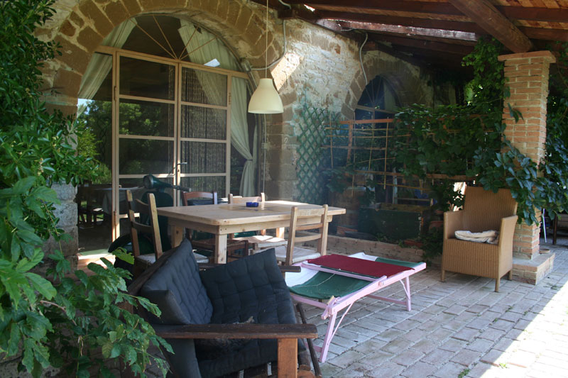 The Veranda of the house Self Catering Marche