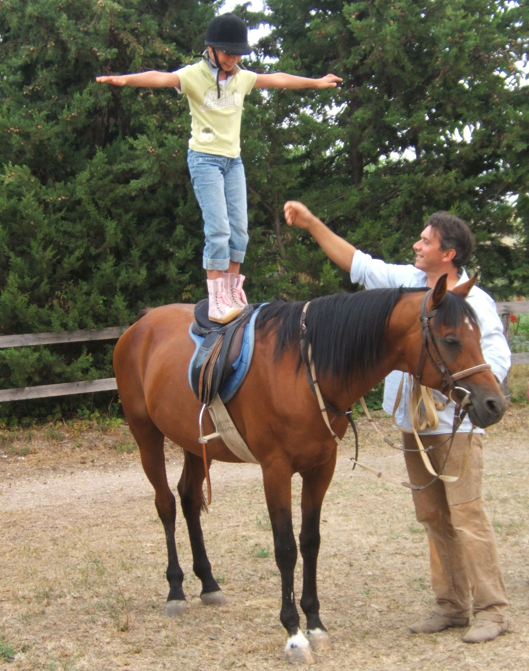 Horse back riding in the Sibillini mountains, lessons just for kids in Marche Italy