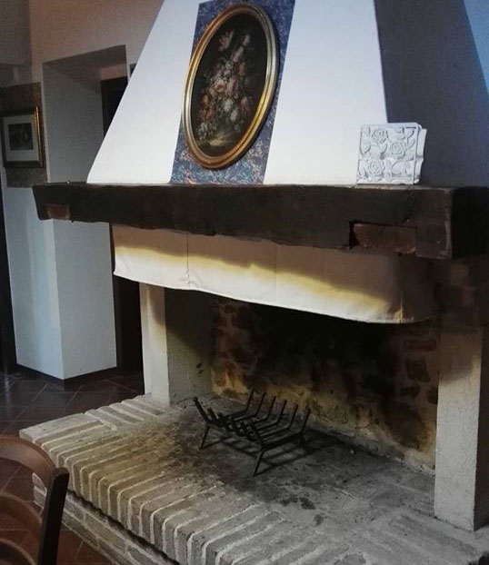 Villa with fireplace in Marche Italy