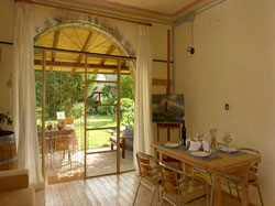 bright holiday house with pool for 4 persons in 