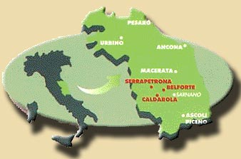 Maps And Directions For Countryhouse Marche Italy