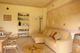 spacious sofa of the apartment Marche Italy